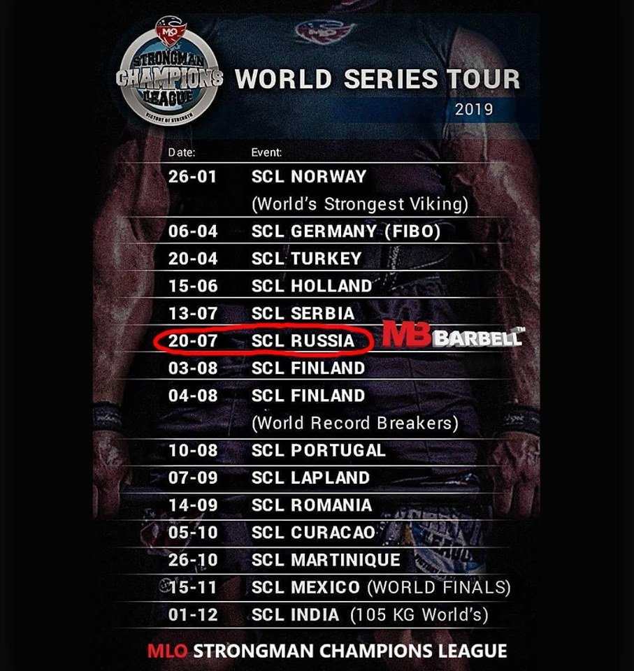 Strongman Champions League – 2019, July 20 – StreetBarbell com